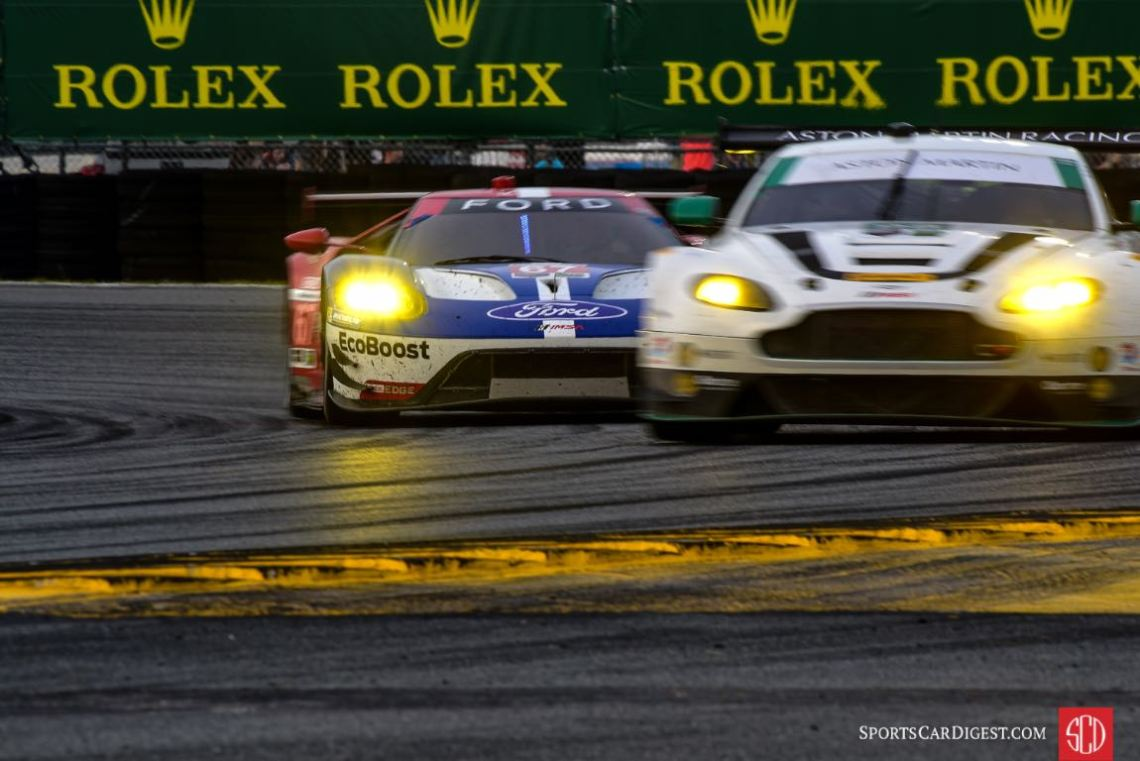 Aston Martin Vantage and Ford GT