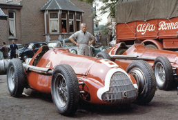 Alfettas at Spa in 1951