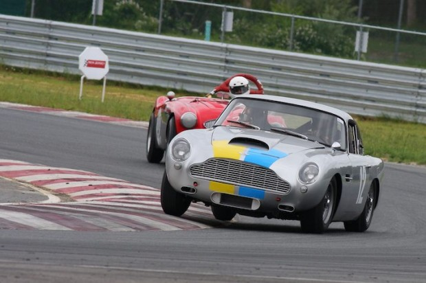 1960 Aston Martin DB4 GT and 1956 Austin-Healey 100/4