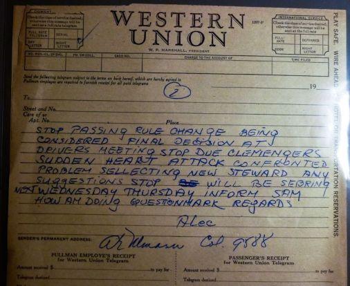 Telegram from Alec Ulmann