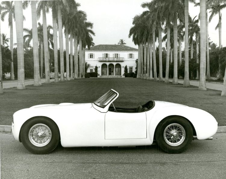 Publicity photo of the 1951 Cunningham C-1 Roadster