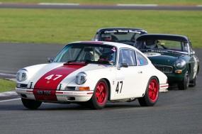Peter Tognola Porsche 911 leads Peter Boye's MGB