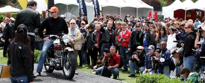 Robert Jordan's class winning 1957 Triumph TR6 at Quail Motorcycle Gathering