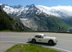 Jaguar XK150 at Rallye des Alpes