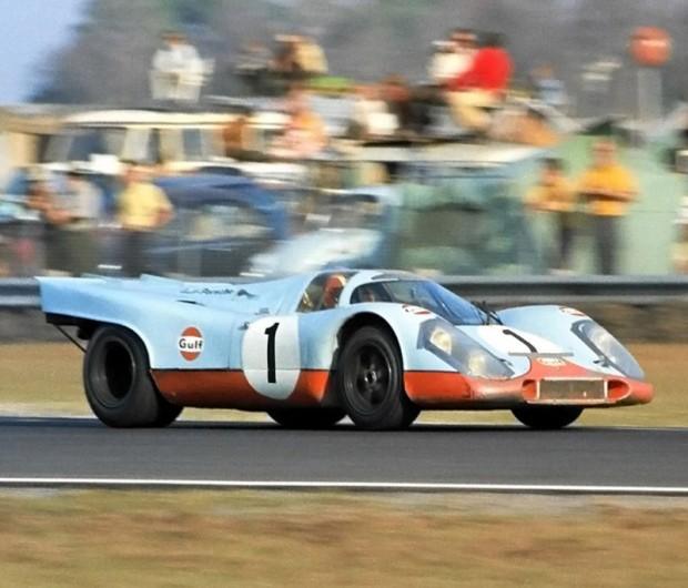 Jo Siffert / Derek Bell Gulf Porsche 917K retired early with a blown engine.