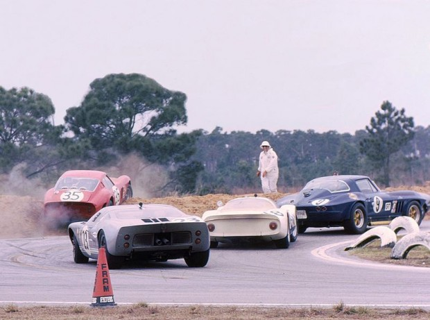 Ferrari 250 GTO, Jack Slottag and Larry Perkins, 1966 Sebring 12 Hours