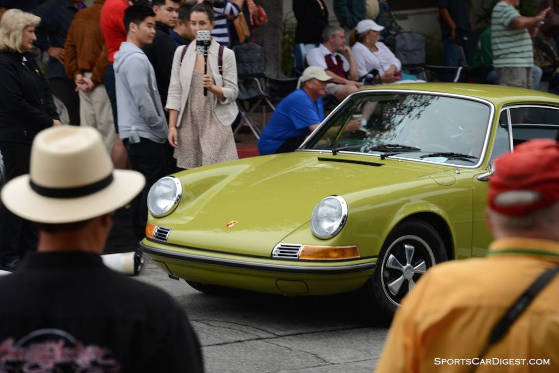Golden Green Porsche 911 stands out among the masses at the Carmel Concours 2015