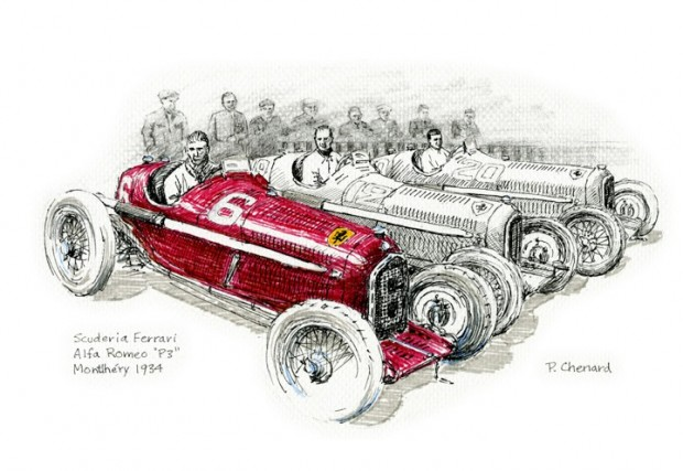 Scuderia Ferrari - French Grand Prix 1934