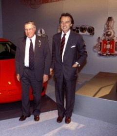 Sergio Pininfarina (left) with Ferrari Chairman Luca di Montezemolo