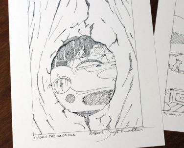 Through the Knothole Sketch
