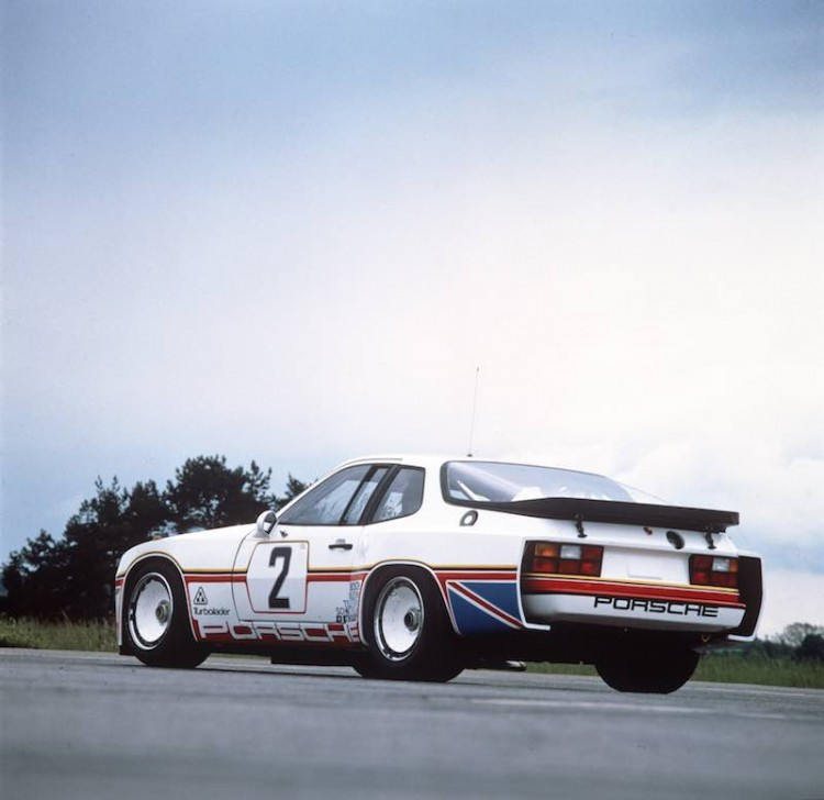 The #2 Porsche 924 Carrera GT prior to the 1980 Le Mans 24 Hours