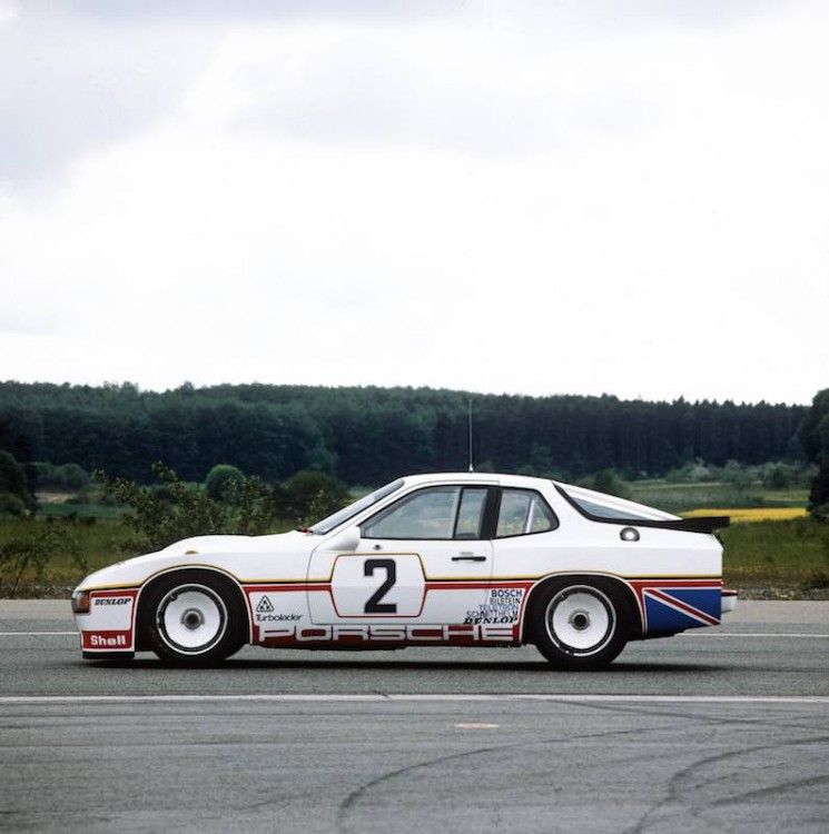 The #2 Porsche 924 Carrera GT race car prior to the 1980 Le Mans 24 Hours