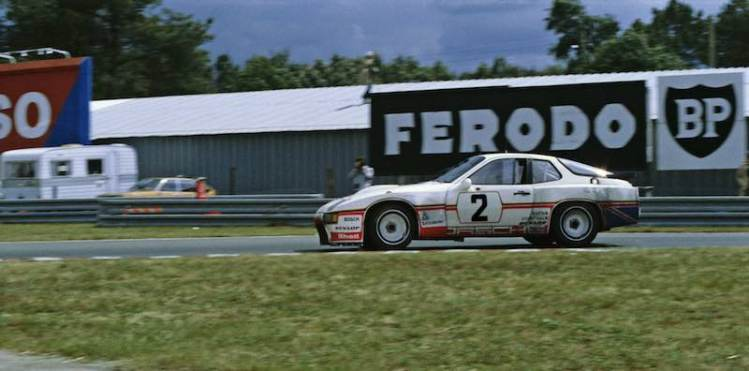 The British team #2 Porsche 924 Carrera GT racing in the Le Mans 24 Hours in 1980