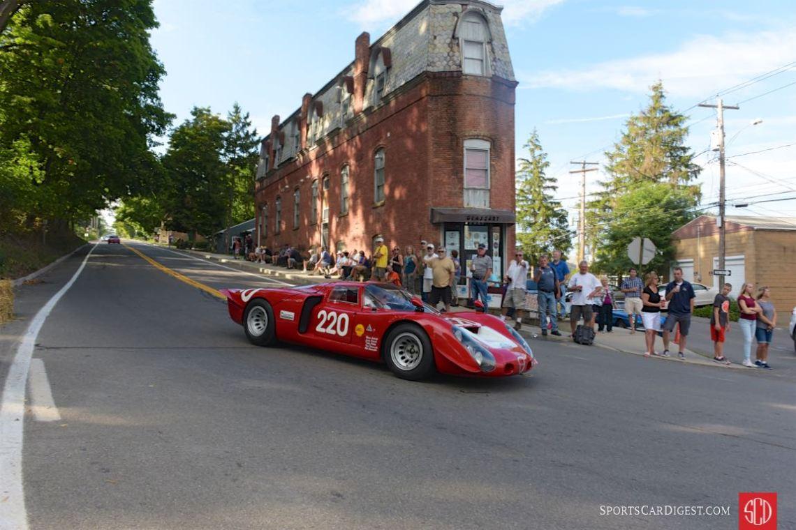 1968 Alfa Romeo T33/2 Daytona, downtown Watkins Glen