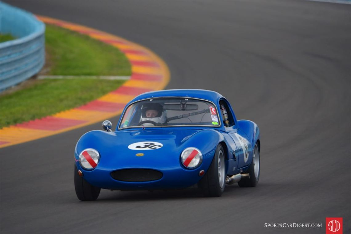 One of my favorite cars of Group 8 - 1965 Ginetta G4R driven by Sharon Adelman