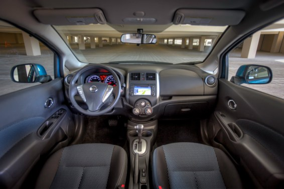 Basic but functional interior for the Versa Note SV
