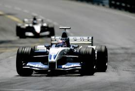 2003 Monaco Grand Prix Monte Carlo, Monaco. 29th May - 1st June 2003 Juan-Pablo Montoya, BMW Williams FW25, leads Kimi Raikkonen, Team McLaren Mercedes MP4-17D, action. Photo: Photo: LAT Photographic ref: 35mm Image 03Mon08