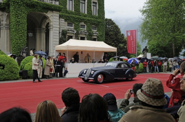 <strong>Best of Show – Public Referendum and Committee</strong> 1938 Alfa Romeo 8C 2900B, Jon Shirley, United States