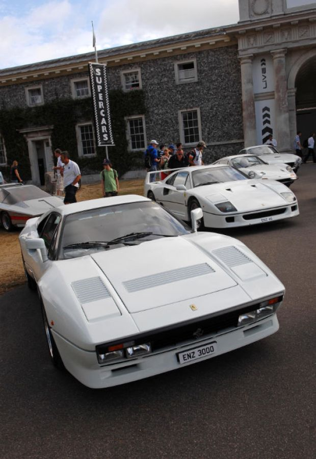 Chris Evans' collection of Ferraris, with six of the seven resprayed in white to help raise funds for the BBC Children In Need charity