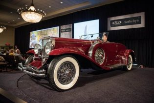 1929 Duesenberg Model J 'Disappearing Top' Convertible Coupe by Murphy RM Sotheby's Motor City 2016