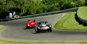 1959 Aston Martin DB4 GT driven by James Freeman and the 1962 Ferrari 250 GTO of Sandra McNeil
