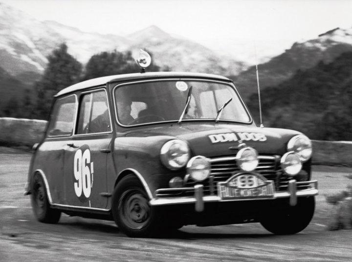 Mini Cooper at 1965 Rallye Monte Carlo