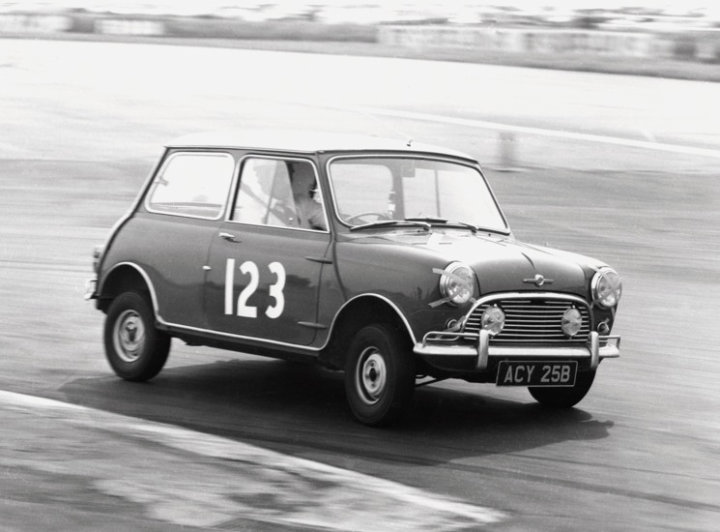 Mini Cooper racing in 1965