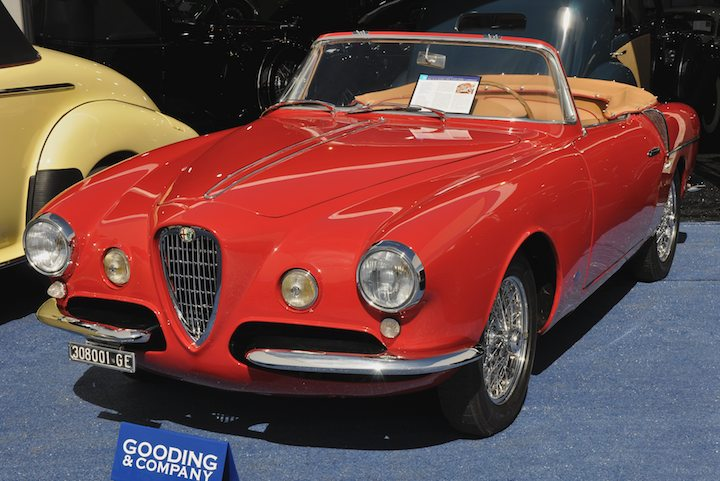 1955 Alfa Romeo 1900 Super Sprint Cabriolet – Sold for $176,000 versus pre-sale estimate of $225,000 - $325,000.