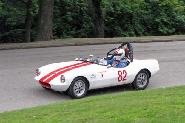 Michael Oritt won the black flag-shortened Group 4 race with his 1958 Elva Courier