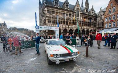 The winning Toyota Celica 1600GT of Dominique Holvoet and Bjorn Vanoverschelde