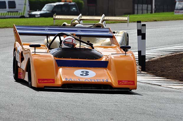 Richard Piper winning in his McLaren M8F