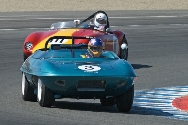 Class winner Frank Zucchi 1960 Piranha leads Ole Anderson's 1959 Byers Volvo