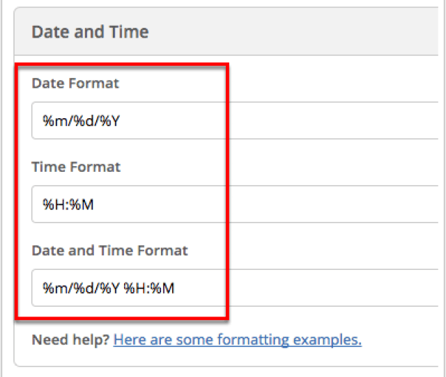 Type Your New Date And Time Format In The Date Format And Time Format Fields Provided