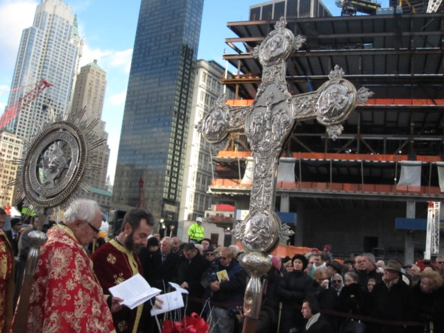 Congregants of Church Destroyed on 9/11 Return to Ground Zero to Pray