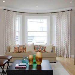 decorative curved curtain rods custom