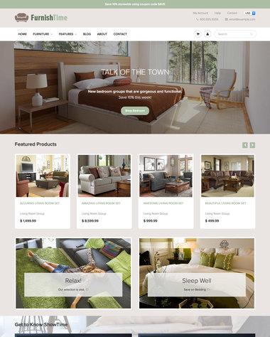Furniture Amp Interior Design Ecommerce Website Templates Free And Premium Online Store Themes