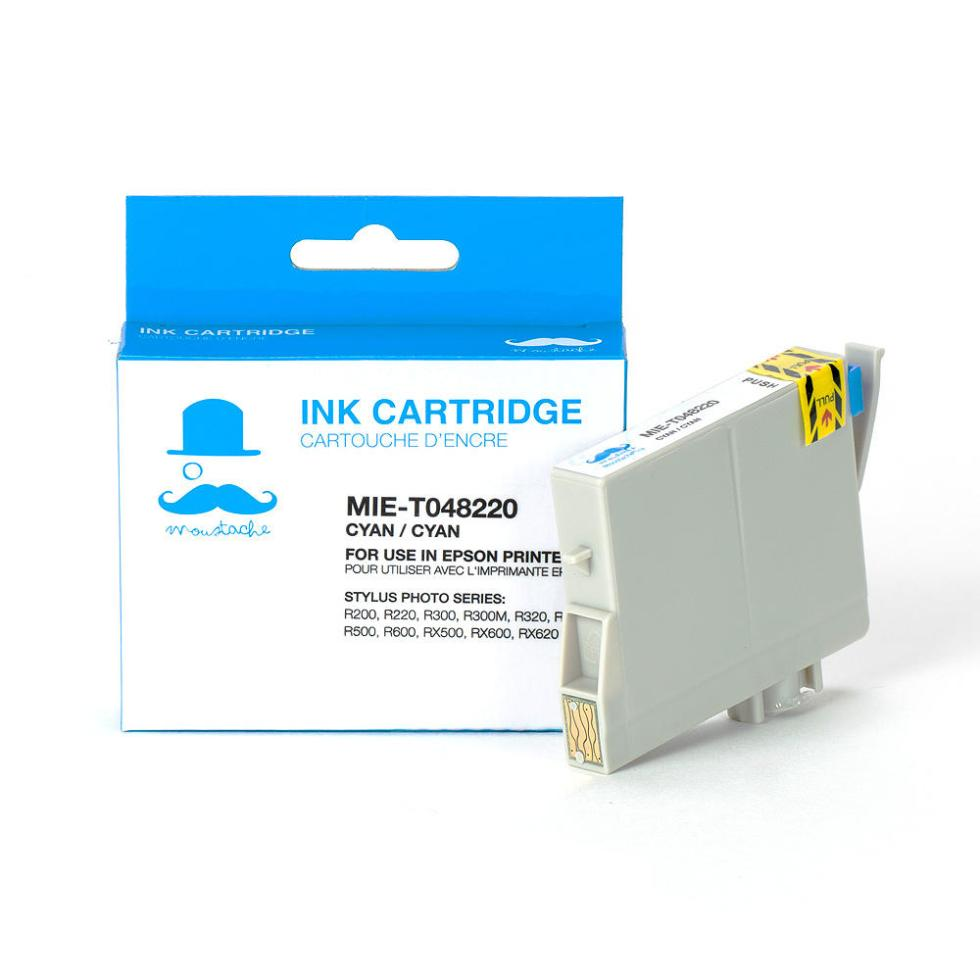 Epson 48 T048220 New Compatible Cyan Ink Cartridge - Moustache