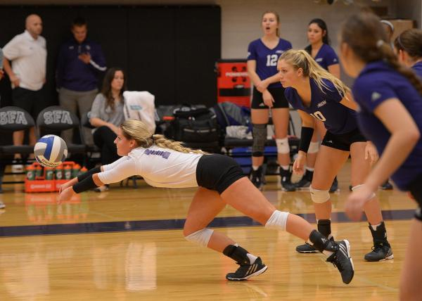 SFA comes back to defeat ACU Volleyball in four sets ...
