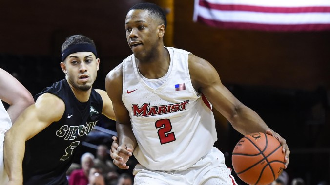Image result for Marist Red Foxes vs. Stetson Hatters college basketball