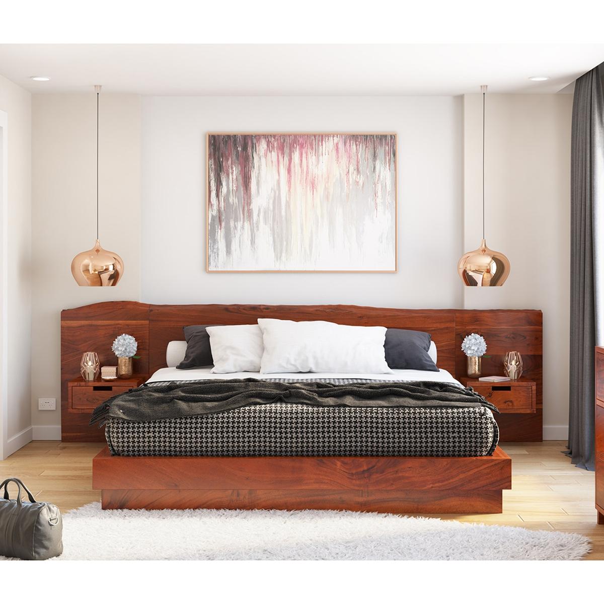 Batesville Solid Wood Platform Bed W Single Slab Live Edge Headboard