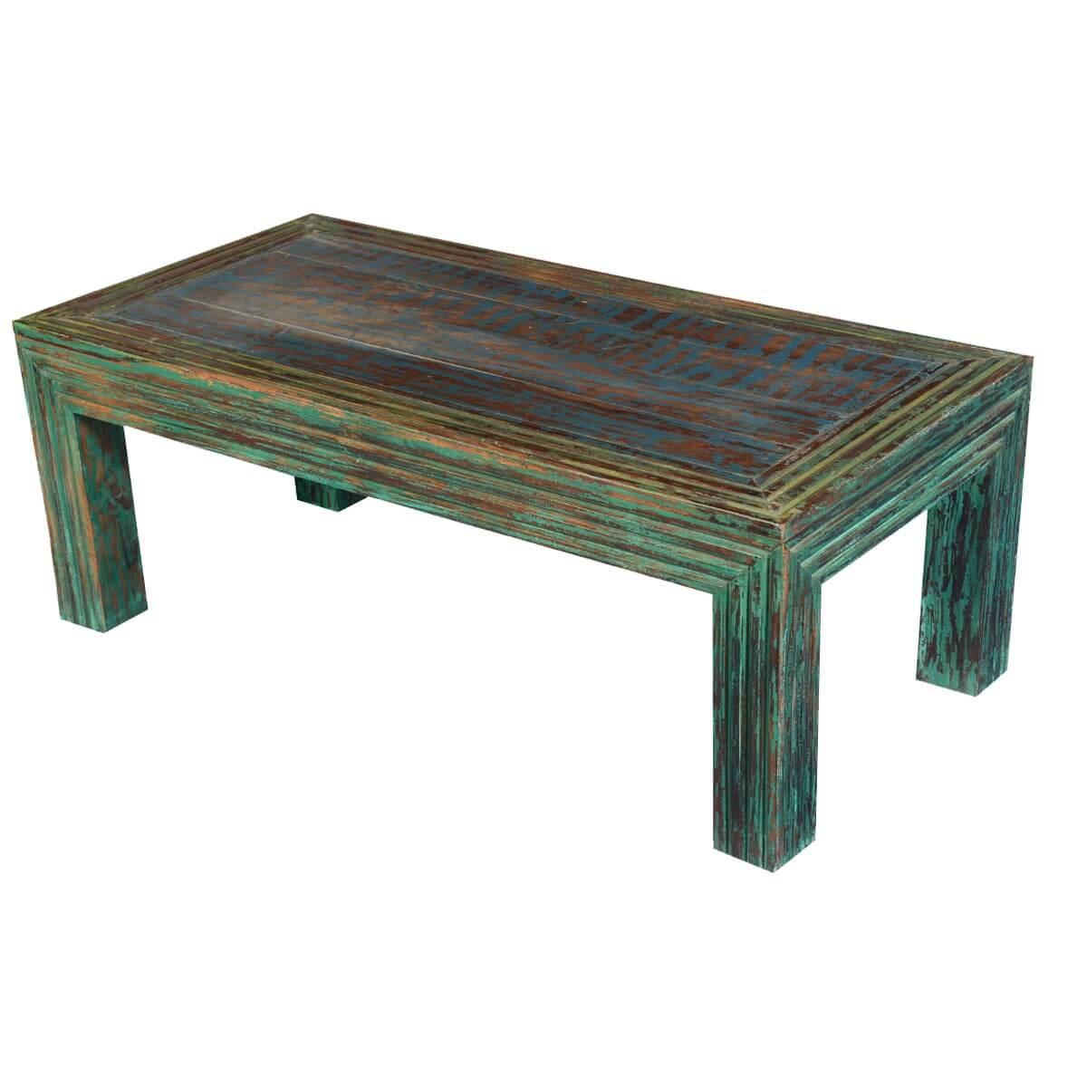 log cabin modern reclaimed wood 47 5 coffee table