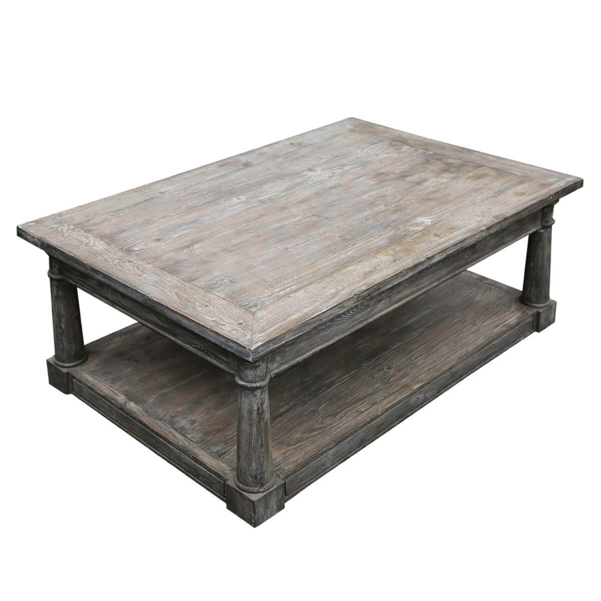 shabby chic rectangle baluster coffee table made of teak wood