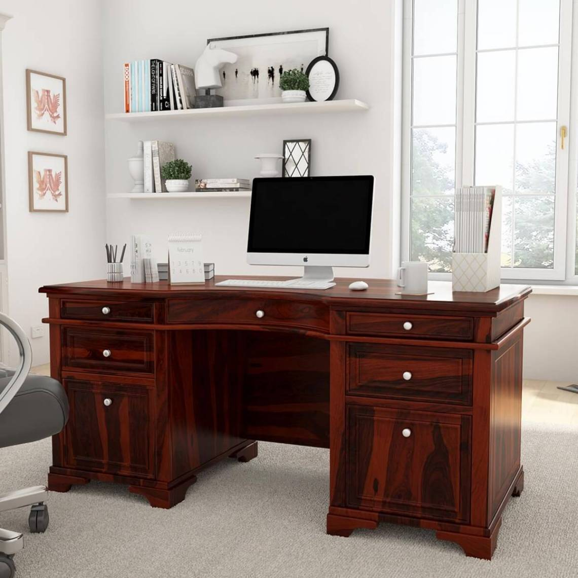 title | Wood Home Office Desk