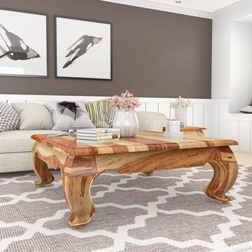 halfeti rustic solid wood large opium coffee table