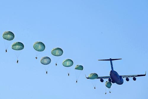 army ranger parachute jump photo