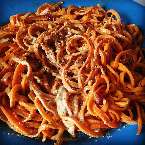 sweet potato noodles photo