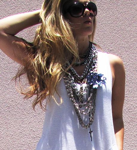 layered necklace photo