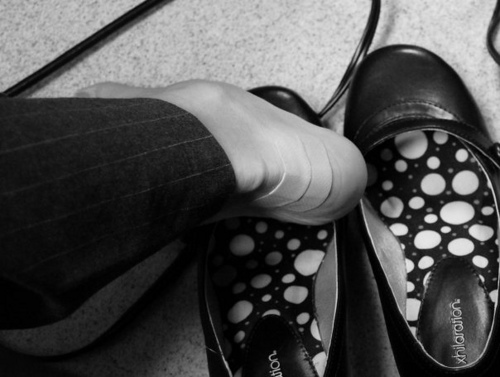 heels bandaid photo