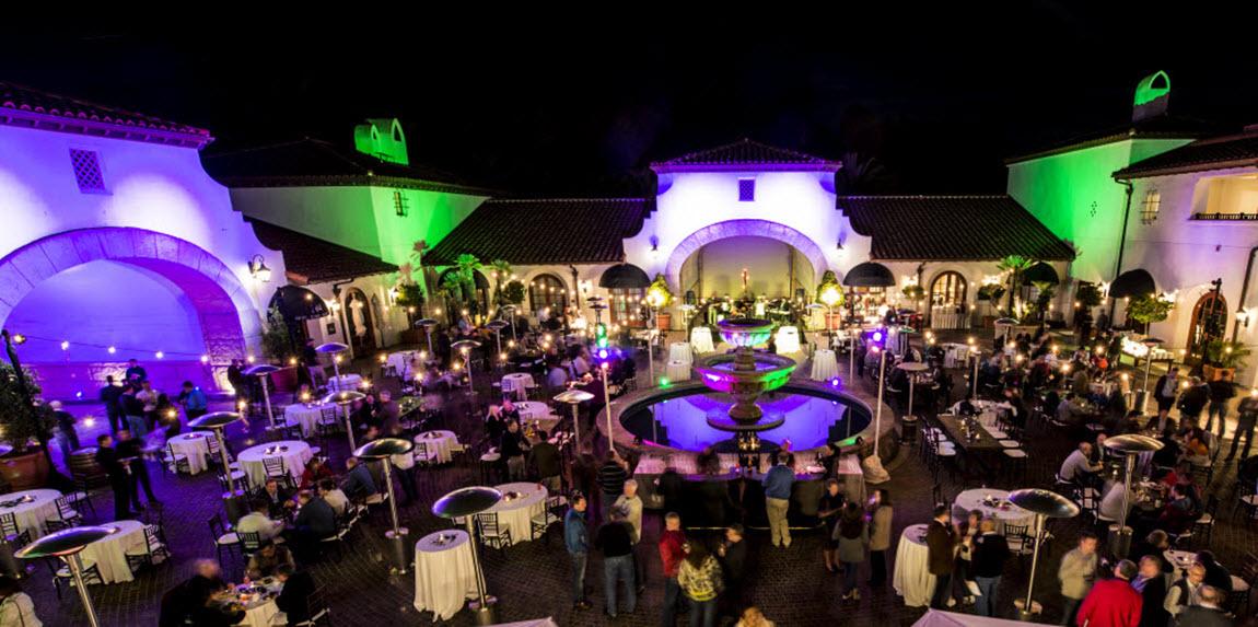 santa barbara event lighting wedding
