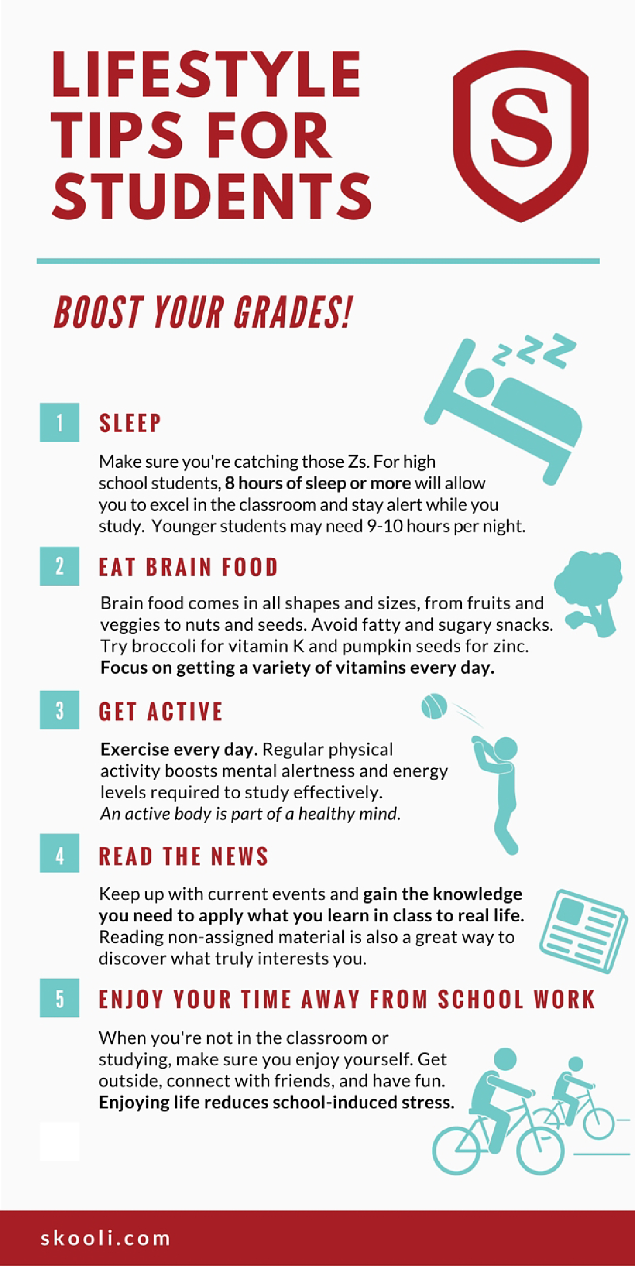 5 Lifestyle Tips For Students Infographic